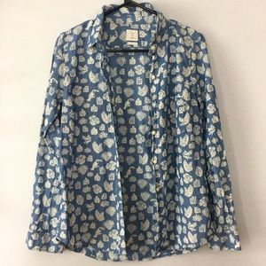 The Gap Plant and Animal Print Top Women's Size M